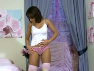 Tight Tona strokes her ti...