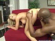 Little blonde pumped by b...