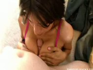 busty brunette tit fuckin...