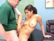 Busty latina teen fucked hard by her teacher