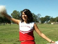 Bimbo cheerleader getting...