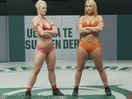 Hot blondes nude wrestlin...