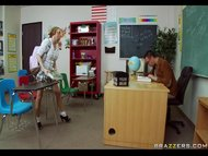 Tattle tale Teen with glasses gets drilled by her Professor view on tube8.com tube online.