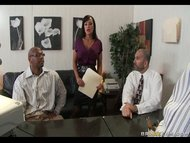 Busty MILF Lisa Ann fucks coworker in private to releave tension at work view on tube8.com tube online.