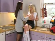 Horny MILF seduces and pl...