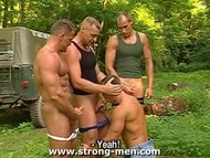 Muscled Group Sex