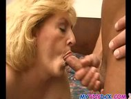 Horny granny gets covered...