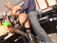 Office slut Donna Bell ge...