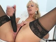 Old blonde milf stuffing ...