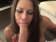 Rachel Roxxx swallows big...