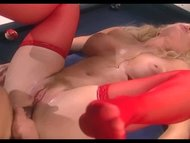 Big boobed blonde milf fu...