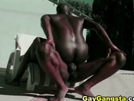 Wild Ebony Men Steamy Har...