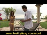 Big tit horny PS Jenna Presley fucks pizza delivery boy outdoors