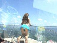 This Girl Sucks on Boat