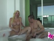 Ana Mancini in the Jacuzzi