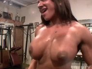 Pussy Play in the Gym