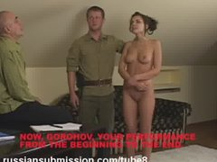 A beautiful brunette humiliated and fucked by an NKVD officer