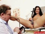Flexible skinny babe Sharon medical exam