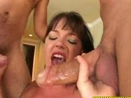Whore getting her holes s...