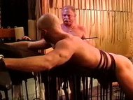 Caning my hot buddy's mus...