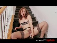 Hairy Redhead Cums With a Vibrator