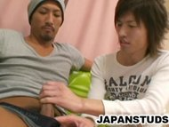 Horny Japanese studs expl...