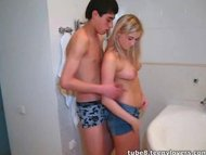 young lovers enjoy a great fuck in a bathroom