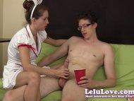 Lelu LoveSperm Bank Nurse Handjob view on tube8.com tube online.
