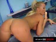 Shaved Blonde Cums Loudly