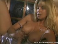 Blonde Enjoys Finger Fuck...