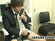 Japanese businessman jerk...
