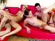 TWO EURO COUPLES FUCKING ...