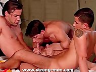 Trio Hunk Sex