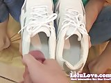 Lelu LovePOV Footjob Cum In Sneakers