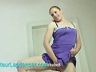 Amateur redhead lapdances...