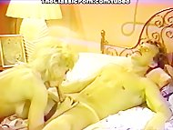 Blonde pussy licked and d...