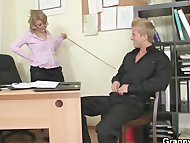 Naughty office lady bangs...