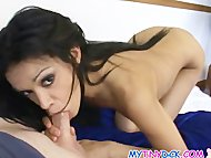 skinny slut gets naked for a few bucks