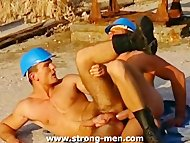 Muscle Studs Anal Sex Out...