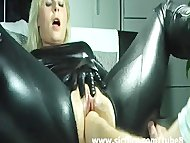 Blond wife violently fist...