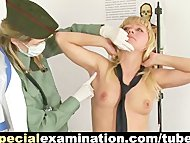 Shocking army gyno exam f...