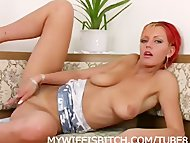 Redhead Play With Dildo