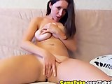 She Rubbed her Clit so Hard till she Orgasms HD