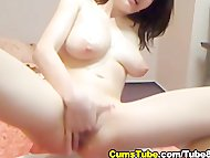 Hot Babe Overflowing with...