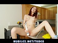 Cute redhead pussy squirt...
