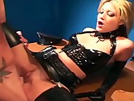 Uniformed babe sex in glo...