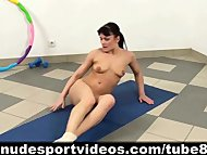 Flexible gymnast doing ex...