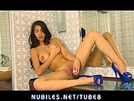 Hot latina pleasures her ...