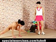 Nude training for sexy pe...