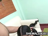 Paola   Pigtailed Shemale Showing Oral Skills